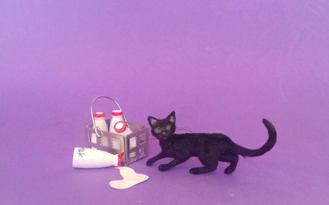 1:12 scale black cat