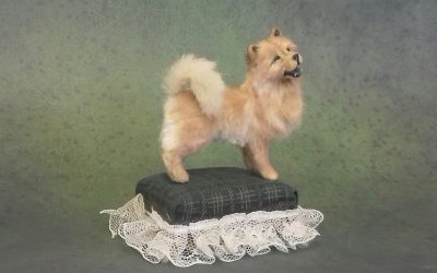 1:12 scale chow dog