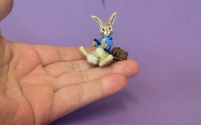 Little Rabbit with satchel
