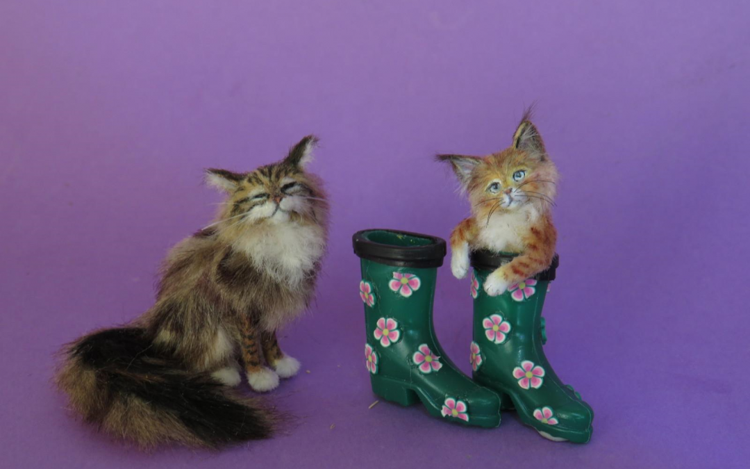 "Kitty in wellington boot  "" Julius """